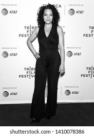 """New York, NY - April 28, 2019: Luna Lauren Velez attends the premiere of the """"Swallow"""" during the 2019 Tribeca Film Festival at SVA Theater"""