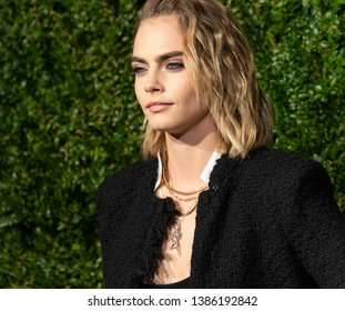 New York, NY - April 29, 2019: Cara Delevingne attends the Chanel 14th Annual Tribeca Film Festival Artists Dinner at Balthazar
