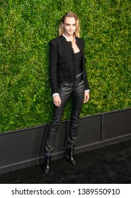 New York, NY - April 29, 2019: Cara Delevingne wearing Chanel attends the Chanel 14th Annual Tribeca Film Festival Artists Dinner at Balthazar