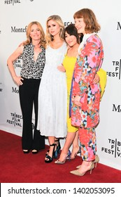"""NEW YORK, NY - APRIL 29: Elizabeth Shue, Erin Moriarty, Karen Fukuhara and Colby Minifle attend """"The Boys"""" during the 2019 Tribeca Film Festival at SVA Theater on April 29, 2019 in New York City."""