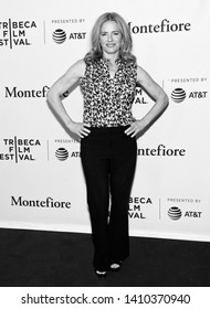 """New York, NY - April 29, 2019: Elizabeth Shue attends the """"The Boys"""" screening during the 2019 Tribeca Film Festival at SVA Theater"""