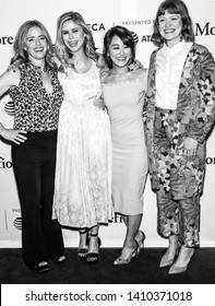 """New York, NY - April 29, 2019: Elisabeth Shue, Erin Moriarty, Karen Fukuhara and Colby Minifie attend the """"The Boys"""" screening during the 2019 Tribeca Film Festival at SVA Theater"""
