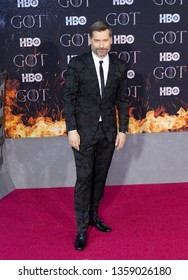 New York, NY - April 3, 2019: Nikolaj Coster-Waldau attends HBO Game of Thrones final season premiere at Radion City Music Hall