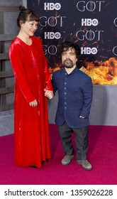New York, NY - April 3, 2019: Erica Schmidt and Peter Dinklage attend HBO Game of Thrones final season premiere at Radion City Music Hall