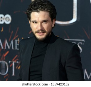 New York, NY - April 3, 2019: Kit Harington attends HBO Game of Thrones final season premiere at Radion City Music Hall