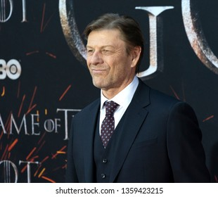 New York, NY - April 3, 2019: Sean Bean attends HBO Game of Thrones final season premiere at Radio City Music Hall