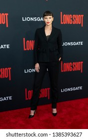 New York, NY - April 30, 2019: Charlize Theron attends premiere of Long Shot at AMC Lincoln Center Theater