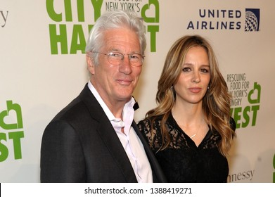 NEW YORK, NY - APRIL 30: Actor Richard Gere and Alejandra Silva attend City Harvest: The 2019 Gala on April 30, 2019 at Cipriani 42nd Street in New York City.