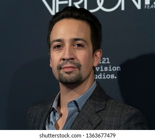 New York, NY - April 8, 2019: Lin-Manuel Miranda attends premiere Fosse/Verdon by FX Network at Gerald Schoenfeld Theatre