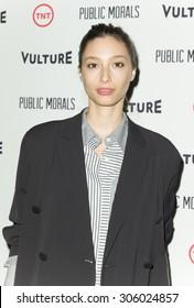 New York, NY - August 12, 2015: Alexandra Agoston attend the Public Morals New York series screening at Tribeca Grand Hotel Screening Room