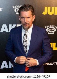 New York, NY - August 14, 2018: Ethan Hawke attends premiere of 'Juliet, Naked' at Metrograph