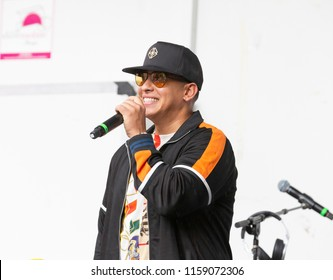 New York, NY - August 18, 2018: Daddy Yankee celebrates release of single Made For Now during 44th annual Harlem Week at St. Nicholas Park