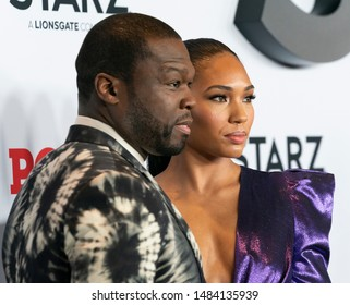 New York, NY - August 20, 2019: Jamira and Curtis 50 Cent Jackson attend STARZ Power Season 6 premiere at Madison Square Garden