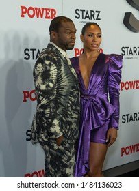 New York, NY - August 20, 2019: Curtis 50 Cent Jackson and Jamira attend STARZ Power Season 6 premiere at Madison Square Garden