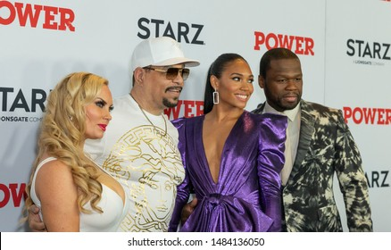 New York, NY - August 20, 2019: Nicole Coco Austin, Ice T, Jamira, Curtis 50 Cent Jackson attend STARZ Power Season 6 premiere at Madison Square Garden