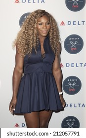 NEW YORK, NY - AUGUST 20, 2014: Serena Williams attends Delta Open Mic Karaoke A-Game at Arena