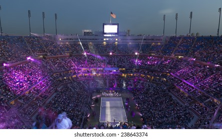 NEW YORK, NY - AUGUST 25: Opening ceremony of the US Open tennis tournament in Flushing Meadows USTA Tennis Center 2014