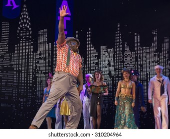 New York, NY - August 25, 2015: Philip Boykin at Misty Copeland as Ivy Smith/Miss Turnstyles debut performance in Broadway musical On The Town in Lyric Theatre