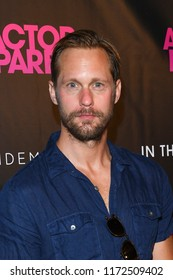 NEW YORK, NY - AUGUST 29: Alexander Skarsgard attends 'An Actor Prepares' New York Screeningat Metrograph on August 29, 2018 in New York City.