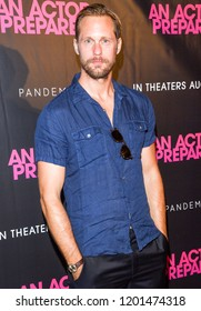New York, NY - August 29, 2018: Alexander Skarsgard attends An Actor Prepares New York Screening at Metrograph