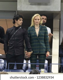 New York, NY - August 31, 2018: Joe Jonas, Sophie Turner attend US Open 2018 3rd round match between Serena Williams of USA & Venus Williams of USA at USTA Billie Jean King National Tennis Center
