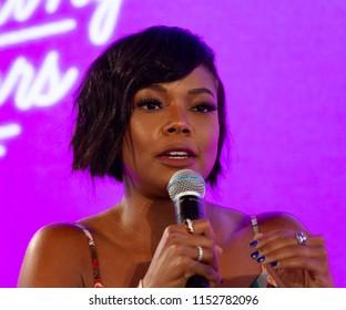 New York, NY - August 8, 2018: Gabrielle Union attends BlogHer18 creators summit Women inspiring women at Pier 17