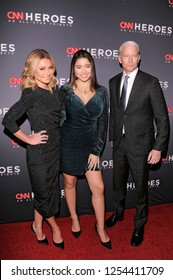 NEW YORK, NY - DECEMBER 09: Kelly Ripa, Lola Grace Consuelos and Anderson Cooper attend the 12th Annual CNN Heroes gala at American Museum of Natural History on December 9, 2018 in New York City.