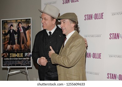 NEW YORK, NY - DECEMBER 10: Actors Steve Coogan and John C. Reilly attend the 'Stan & Ollie' New York screening at Elinor Bunin Munroe Film Center on December 10, 2018 in New York City.