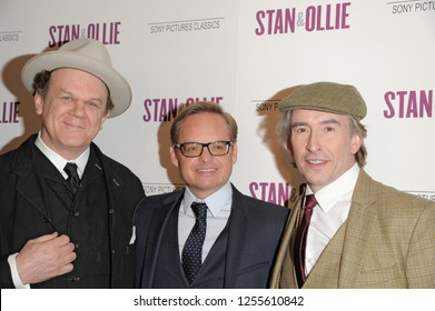 NEW YORK, NY - DECEMBER 10: John C. Reilly, Jon S. Baird and Steve Coogan attend the 'Stan & Ollie' New York screening at Elinor Bunin Munroe Film Center on December 10, 2018 in New York City.