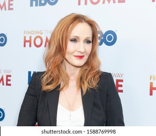 New York, NY - December 11, 2019: J.K. Rowling attends New York premiere of Finding the Way Home at HBO office