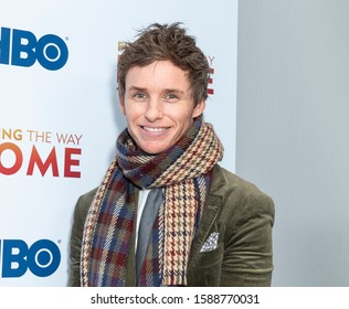 New York, NY - December 11, 2019: Eddie Redmayne attends New York premiere of Finding the Way Home at HBO office