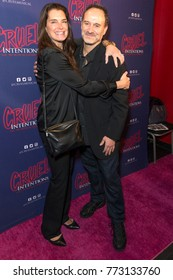 New York, NY - December 11, 2017: Brooke Sheilds, Roger Kumble attend Opening night of Cruel Intentions musical at (le) Poisson Rouge