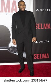 NEW YORK, NY - DECEMBER 14, 2014: Actor Tyler Perry attends the 'Selma' New York Premiere at the Ziegfeld Theater