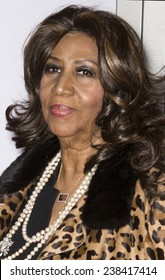 NEW YORK, NY - DECEMBER 14, 2014: Singer Aretha Franklin attends the 'Selma' New York Premiere at the Ziegfeld Theater