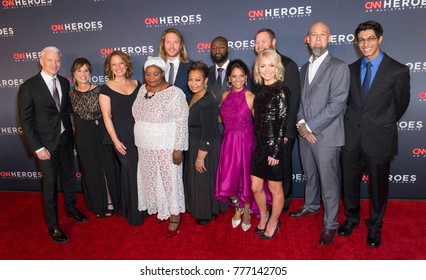 New York, NY - December 17, 2017: CNN Heroes & hosts Anderson Cooper & Kelly Ripa attend 11th annual CNN Heroes All-Star Tribute at American Museum of Natural History