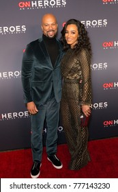 New York, NY - December 17, 2017: Common and Angela Rye attend 11th annual CNN Heroes All-Star Tribute at American Museum of Natural History