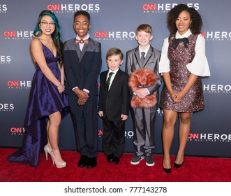 New York, NY - December 17, 2017: CNN Young Wonders attend 11th annual CNN Heroes All-Star Tribute at American Museum of Natural History