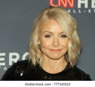 New York, NY - December 17, 2017: Kelly Ripa attends 11th annual CNN Heroes All-Star Tribute at American Museum of Natural History