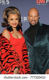 NEW YORK, NY - DECEMBER 17: Andra Day(L) and Common attend 11th Annual CNN Heroes: An All-Star Tribute at American Museum of Natural History on December 17, 2017 in New York City.