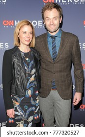 NEW YORK, NY - DECEMBER 17: Claire Coffee (L) and Chris Thile attend CNN Heroes 2017 at the American Museum of Natural History on December 17, 2017 in New York City.