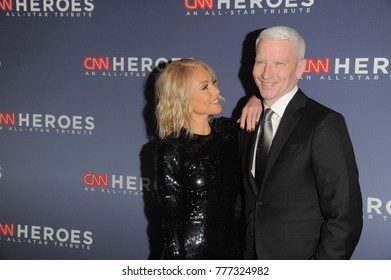 NEW YORK, NY - DECEMBER 17: Kelly Ripa (L) and Anderson Cooper attend CNN Heroes 2017 at the American Museum of Natural History on December 17, 2017 in New York City.