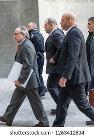 New York, NY - December 20, 2018: Attorney Benjamin Brafman & Harvey Weinstein arrive for a court hearing of Harvey Weinstein case at New York Criminal Court