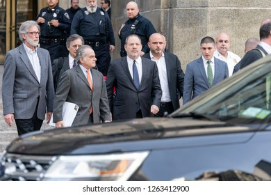 New York, NY - December 20, 2018: Attorney Benjamin Brafman & Harvey Weinstein leave court after unsuccessful hearing of Harvey Weinstein case at New York Criminal Court