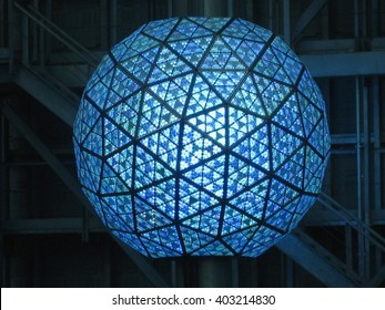 NEW YORK, NY - December 28, 2009:  Times Square Ball on top of One Times Square Building, Times Square, New York CIty, taken December 28, 2009.