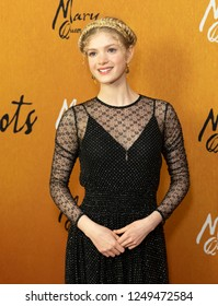 New York, NY - December 4, 2018: Elena Kampouris attends the New York premiere of 'Mary Queen Of Scots' at Paris Theater