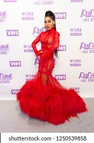 New York, NY - December 5, 2018: Gia Gunn attends Meet the Queens of RuPaul's Drag Race All Stars by VH1 at TRL Studios
