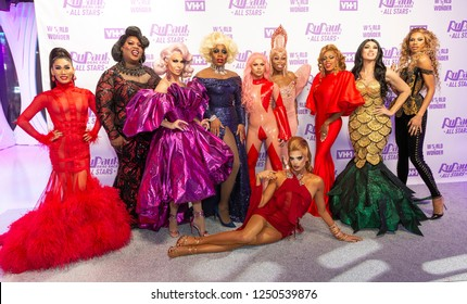 New York, NY - December 5, 2018: Contestants attend Meet the Queens of RuPaul's Drag Race All Stars by VH1 at TRL Studios