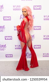 New York, NY - December 5, 2018: Farrah Moan attends Meet the Queens of RuPaul's Drag Race All Stars by VH1 at TRL Studios