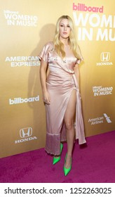 New York, NY - December 6, 2018: Ellie Goulding (Elena Jane Goulding) wearing dress by Magda Butrym attends Billboard's 13th Annual Women in Music gala at Pier 36
