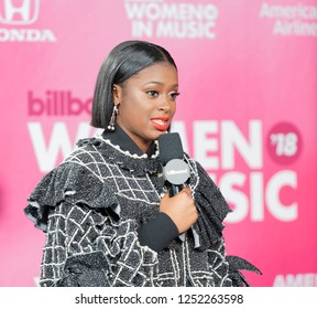 New York, NY - December 6, 2018: Tierra Whack attends Billboard's 13th Annual Women in Music gala at Pier 36